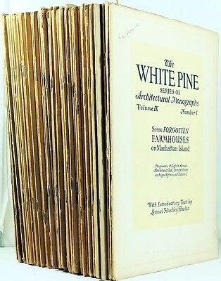 Lot of 52 White Pine Architectural Monographs -Early American Design and History