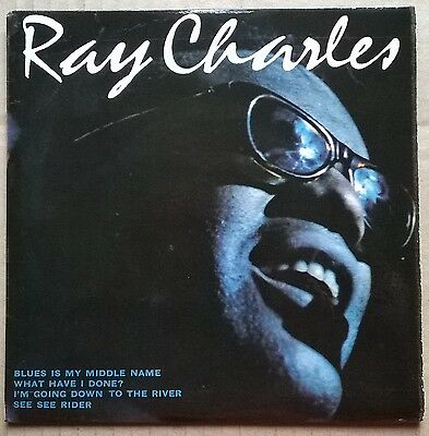 """RAY CHARLES.  Blues Is My Middle Name.  Original  4 TRACK 7 """"vinyl EP. 1965"""
