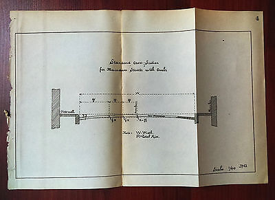 Sketch Diagram Showing Standard Crosssection for Macadam Streets wtih Curbs Cuba