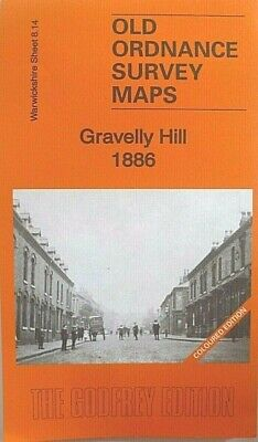Old Ordnance Survey Map Gravelly Hill Warwickshire 1886  S8.14 New Map