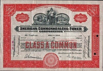 American Commonwealths Power Corp. - 1931