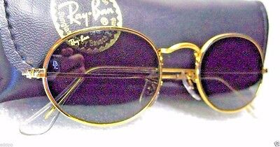 "RAY-BAN *NOS VINTAGE B&L ""Lennon Style"" W0976 24k Classic Metals *NEW SUNGLASSES"