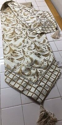 """Rodeo Home Table Runner With Tassels Paisley 14"""" x 72"""""""