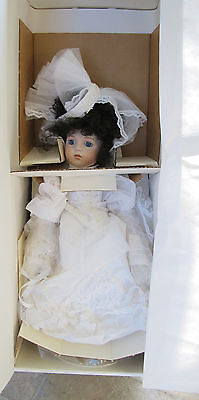 "Marie Osmond LE #142/500 Victoria The Bride 18"" FULL PORCELAIN Doll NRFB Wedding"
