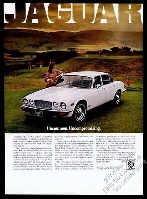 1978 Jaguar XJ6 XJ-6 white car photo on golf course vintage print ad