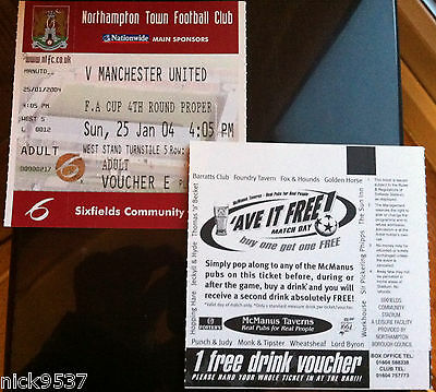 NORTHAMPTON TOWN vs MANCHESTER UNITED | FA CUP 4TH ROUND | (UNUSED) TICKET!!