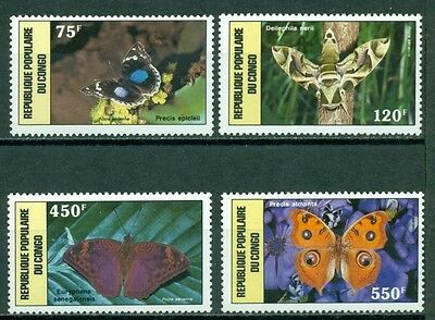 Congo People's Republic Scott C378-C381 MNH Butterflies Fauna CV$17+