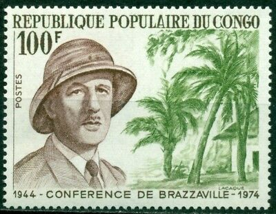 Congo People's Republic Scott 305 MNH Charles De Gaulle CV$5+