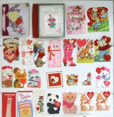 Lot of 60 Vintage Valentines, Some Never Used, All Classic Style of Days Gone By