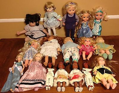 Doll Collection Wholesale Mixed Lot of 17 Dolls Adora Gotz 90 Ally Disney