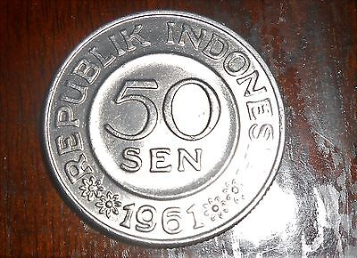 Nice Indonesia 1961 High Grade 50 Sen Coin