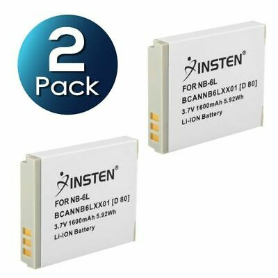2x NB-6L Battery for Canon PowerShot SD1200 IS