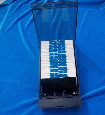 Vintage Rolodex Desk Card File Organizer VIP 24C 1980s 90s Insilco Made in USA