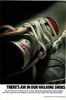 FOR  greggre9whzwc ONLY 2x 1988 NIKE AIR Walking Shoes Sneakers  Vtg Print Ads