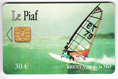 Piaf Parking Carte / Card .. Brest 30€ Orga Windsurf 12/06 5.000Ex N°2 Chip/puce