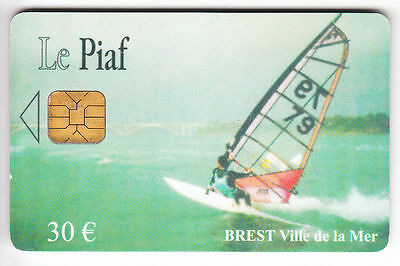 Piaf Parking Carte / Card .. Brest 30€ Orga Windsurf 12/06 5.000Ex  Chip/puce