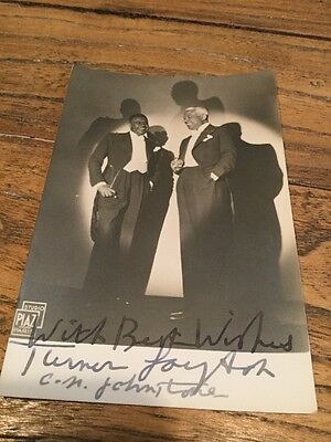 Old Photo Postcard Of A Actors Signed Turned And Johnston