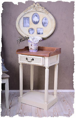 Bedside Table Console Table Shabby Chic Nightstand Bedside console Vintage