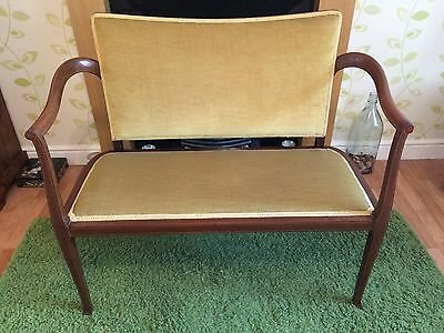 edwardian mahogany & satinwood banded 2 seater parlour-window-love settee