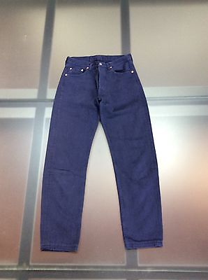 LEVIS 501 0196 Vintage Anni '90 WOMAN W30 , BLU, Made In USA,CHIUSI CON BOTTONI