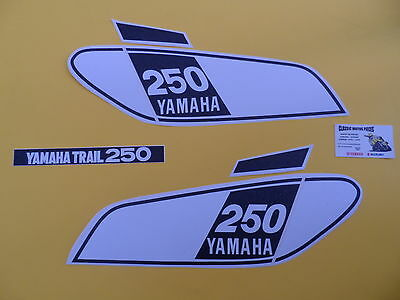 Dt 250  Yamaha  Annee 1975  Sickers Reservoir  /decal Set For Fuel Tank