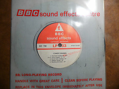 "BBC Sound Effects 7"" Record, Comedy Sound, Piano Crash, Used on Goon Show"
