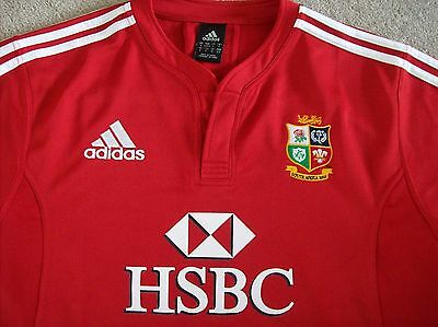 British Lions Short Sleeve Rugby Shirt 'south Africa 2009' (Adult Size) Adidas