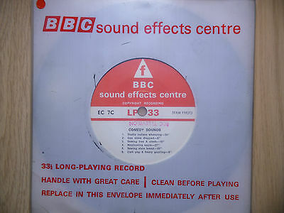 """BBC Sound Effects 7"""" Record - Comedy Sound, Stove Dropped, as used on Goon Show"""