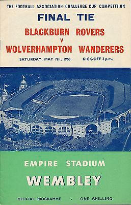 FA CUP FINAL PROGRAMME 1960: Wolves v Blackburn Rovers