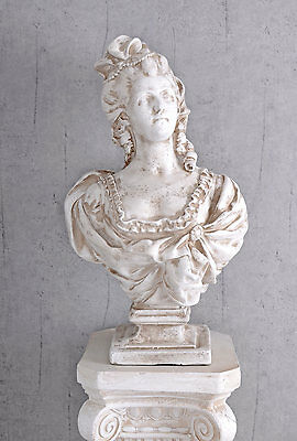 Marie Antoinette Sculpture Baroque Bust Of Woman Garden Figure Bust Queen