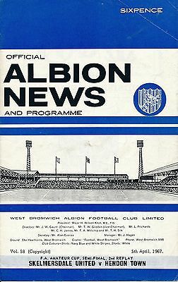 FA AMATEUR CUP SEMI FINAL 1967 2nd REPLAY Skemersdale v Hendon @ West Brom