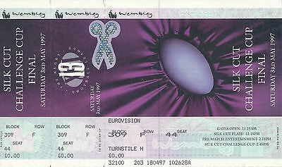 RUGBY LEAGUE TICKET: Challenge Cup Final 1997 St Helens v Bradford - MINT UNUSED
