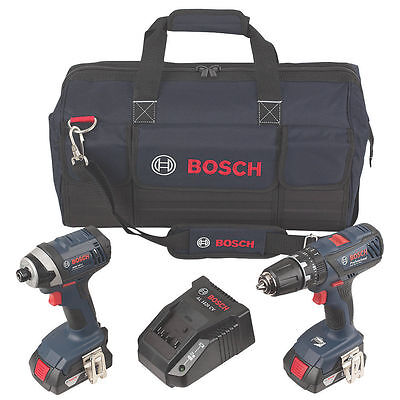BOSCH - GSB18 - GDR18 18V COMBI DRILL & IMPACT WRENCH TWIN PACK  2 x 1.5AH - NEW