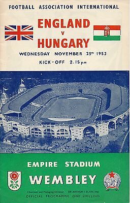 England v Hungary (Famous 3-6 game @ Wembley) 1953 - team changes recorded