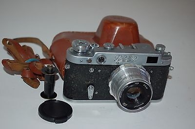 FED 2 (type D3) Vintage Soviet Rangefinder Camera. Case 1962. (2342954) Serviced