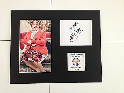 Limited Edition Brendan o'carroll MRS BROWNS BOYS Signed Mount Display AUTOGRAPH