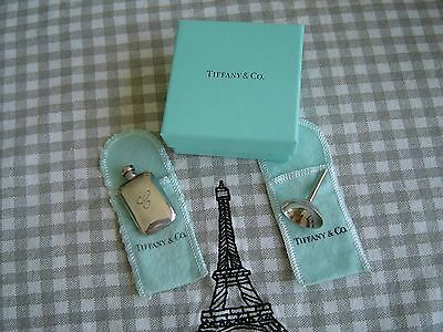 Vintage  Tiffany & Co  Sterling Silver  Perfume Flask & Funnel  in box  unusual