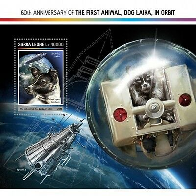 Sierra Leone - 2017 Space Dog Laika - Stamp Souvenir Sheet - SRL17213b