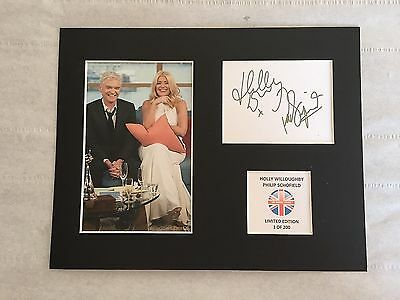 Limited Edition HOLLY AND PHILIP THIS MORNING Signed Mount Display AUTOGRAPH