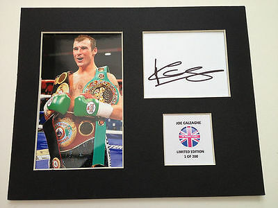 Limited Edition Joe Calzaghe Boxing Signed Mount Display AUTOGRAPH