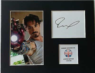 Limited Edition Robert Downey Jr Ironman Signed Mount Display MOVIE FILM