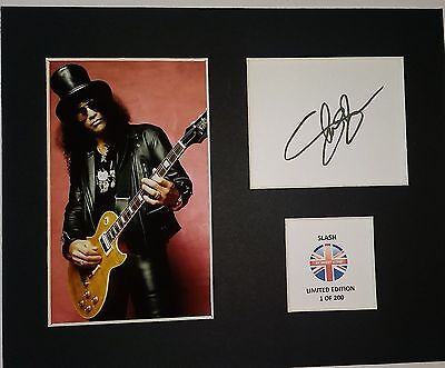 Limited Edition Slash Music Signed Mount Display AUTOGRAPH GUNS N ROSES VELVET