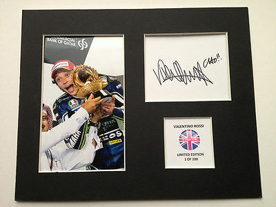 Limited Edition Valentino Rossi 2013 Moto GP Signed Mount Display AUTOGRAPH