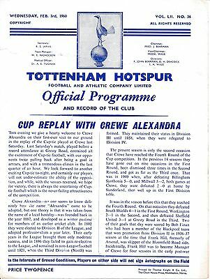 Tottenham v Crewe (FA Cup) 1959/60 - Famous 13-2 game!