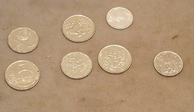 SEVEN COINS from CZECH REPUBLIC  Dated 1993 to 2002  as detailed
