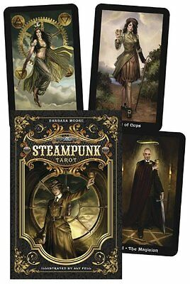 Steampunk Tarot Set NEW Sealed 78 Color Cards 312 pg. Book Aly Fell B. Moore