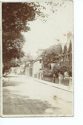 Worcesteshire RP of the street at  Malvern Wells @ 1908