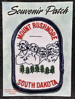 LMH PATCH Badge  MOUNT RUSHMORE Sculpture Memorial  SOUTH DAKOTA Landmark SD  3""