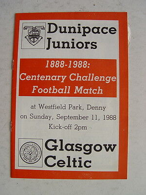 Dunipace Juniors v Celtic 1988 Centenary Match
