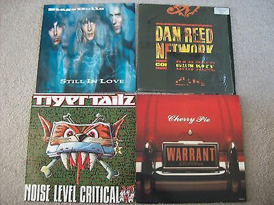 "4 X 12"" Vinyl Bundle, Warrant, Tigertailz, Stage Dolls, Dan Reed Network"